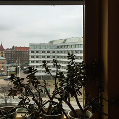 Window View (Hkan Dahlstrm) Tags: architecture photography se skne sweden f22 uncropped malm stadshuset iphone 2015 skneln gamlastaden iphonephoto iphone6 iphone6backcamera415mmf22 sek 6620032015141022