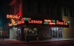 Corner Drug Co (skipmoore) Tags: signs night woodland neon drugs mainst cornerdrugco
