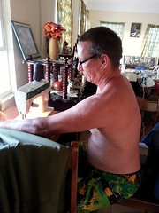 J69DS sewing the curtain