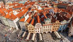 Prague (davecurry8) Tags: tower cityscape prague praha clocktower czechrepublic townhall oldtownsquare townsquare