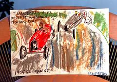 mamiya c220 / the 1935 german g.p. (bluebird87) Tags: road art mamiya c220 film chalk kodak drawing racing german alfa epson 100 v600 mb gp ektar