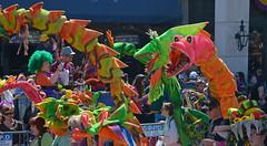The Dragons Greet the Times-Pycayune (BKHagar *Kim*) Tags: street carnival dragon neworleans dragons parade celebration nola mardigras walkers krewe stcharlesavenue kreweoftucks walkingkrewe bkhagar dragonsofneworleans