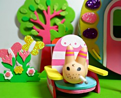 Easter Trailer10 (annesstuff) Tags: rabbit bunny easter toy miniature mini smoking trailer collectible kozik labbit frankkozik annesstuff foamcraft
