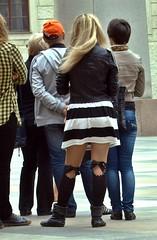 """Prager Frhling"" (""Besenbinder"") Tags: bw primavera stockings girl socks spring chica prague legs butt prag praha praga skirt blond slip ribbon schwarzweiss bas fille printemps bows ragazza frhling derrire hintern schleife bionda loiro nieten collants pragerfrhling besenbinder mschchen"