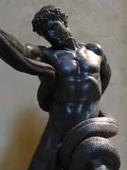 Leighton, Athelete Wrestling a Python (jacquemart) Tags: sculpture london bronze nude michelangelo leighton theroyalacademy atheletewrestlingapython londonmarch2015