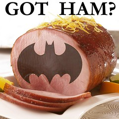 Got Ham? (dooley) Tags: food silly movie square funny ham squareformat batman parody gotham ludwig iphoneography instagram instagramapp uploaded:by=instagram