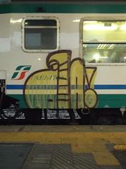 DSCF4859 (en-ri) Tags: face train writing torino graffiti bacon giallo ba nero viso faccia volto nocab