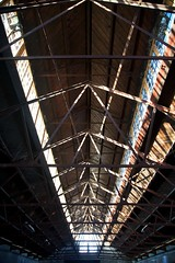 The Engine Shed (itmpa) Tags: roof industry metal stone canon scotland store conversion timber interior stirling military shed railway storage nophotoshop barracks historicscotland unedited