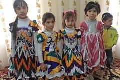 The kids, Family gathering at Nowruz, Bukhara, Uzbekistan