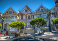 Painted Ladies (clevbuck1986) Tags: sanfrancisco travel vacation house colors painted hdr paintedladies
