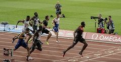 Usian Bolt winning the 200m in 19.89s (jzakariya) Tags: stratford olympic stadium athletics athletic park london united kingdom anniversary games diamond league nikon d500 nikkor england jawad zakariya usain bolt winning winner 200m 1989s second