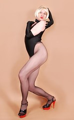18dL (klarissakrass) Tags: leotard legs tights penthouse heels crossdress