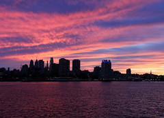 Sunset over Philadelphia (Paul Rudderow- Jersey Shooter) Tags: camden newjersey ussnewjersey newyears night delawareriver philadelphia sunset