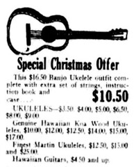 Special Christmas Offer: Ukulele (UH Manoa Library) Tags: ukulele portuguese guitars ndnp dns history historical historic vintage old microfilm digitization digitisation hawaii news newspaper antique