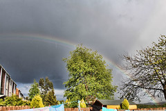 Rainbow (Venvierra @ GothZILLA Photography) Tags: trees sky weather clouds canon dark eos rainbow cloudy brooding canoneos 600d broodingskies canon600d canoneos600d gothzillaphotography