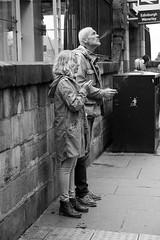 Smoking solidarity (Oregami) Tags: edinburgh contemplation couple hisnhers smoking solidarity streetphotography stphotographia