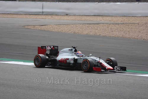 Romain Grosjean in Free Practice 2 at the 2016 British Grand Prix
