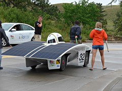Principia College solar car Ra 9 needs a bit of human power, Wind Cave National Park Visitors Center (ali eminov) Tags: southdakota parks windcavenationalpark transportation vehicles cars solarcars sunpower colleges principiacollege ra9