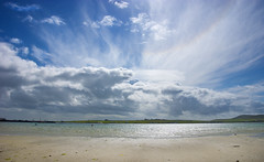 an Orkney isles Midsummer dream (lunaryuna) Tags: scotland northernisles orkneyisles westray pierowallbay landscape seascape sky clouds cloudscape weather lightmood sumemr season seasonalwonders landscapebeauty lunaryuna atmosphericoptics solarhalo