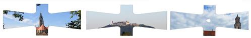 Kimono Sky Himmel über Zwettl / Göttweig / Herzogenburg - Schnittmuster Variation, Work in Progress Verlauf Paper Pattern Cut Sheet Tapisserie