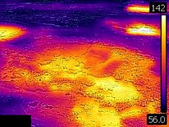 Thermal image of Big Anemone Geyser (morning, 11 June 2016) 2 (James St. John) Tags: big anemone geyser hill group upper basin yellowstone hotspot volcano wyoming hot springs thermal image temperature