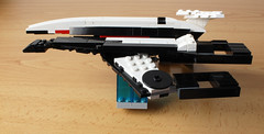 Normandy SR-1 (with instructions) (hachiroku24) Tags: creation afol moc scifi game normandy videogame effect mass ship spaceship lego