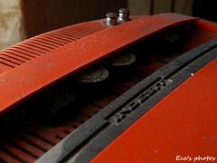 Old television (Eca photos) Tags: old vecchia tv televisione television rossa macro vicino sopra particular particolare manopole canali volume volum canals