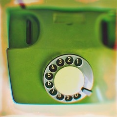 Land line, in avocado (BLACK EYED SUZY) Tags: vintage rotaryphone avocadogreen hipstamatic afterlight oldphone retro