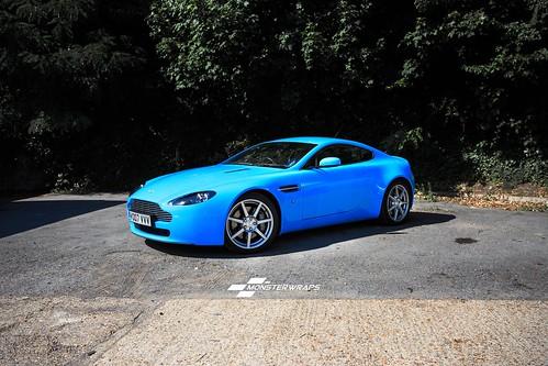 Aston Martin DB Gloss Light Blue Wrap A Photo On Flickriver - Aston martin db8