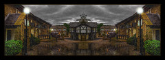 Wet & Wild (Kevin, from Manchester) Tags: rain water reflection panorama panoramic village sky clouds kevinwalker canon1855mm architecture northwest lancashire lastdropvillage lamps canon1100d hdr