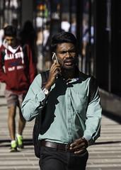 Early Morning Hustle (Markus Jansson) Tags: stockholm street candid phone walking htorget