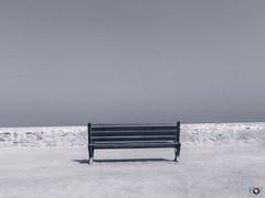 Seul face  l'horizon.......! (A.B.S Graph) Tags: face horizon maroc rabat oudaya hassan mer banc chaise seul lonley alone mur