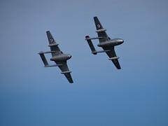 De Havilland Vampire Pair, Portrush 2016 (nathanlawrence785) Tags: de havilland vampire fighter jet fast aircraft plane raf portrush airwaves 2016 2015
