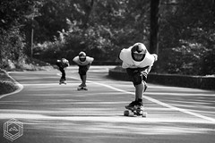 3 in a line (mathieufournel) Tags: longboarding downhill asphalt action sports wheels