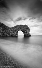 Durdle (twenty8solo) Tags: jurassic coast seascape landscape rock darrenjamesphotography blackandwhite longexposure durdledoor dorset