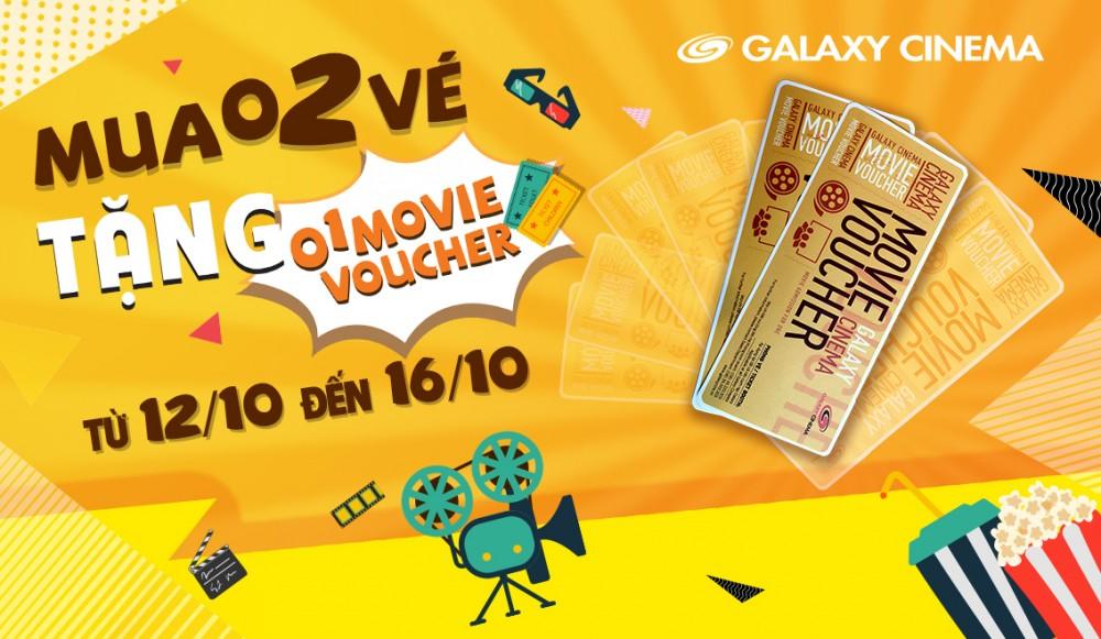 Ưu Đãi Khủng Tháng 10 - Mua 02 Vé Tặng 01 Movie Voucher