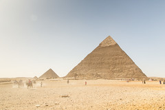 Pyramids of Giza 1 (Jesse4870) Tags: people sphinx sand desert crowd egypt sunny east cairo pyramids middle giza