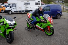 Just trying it on for size..... (The Landscape Motorcyclist) Tags: hatch brands zx7r hench hottraxs racerepsrule