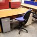 Cherry straight desk