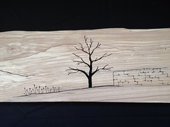 Scroll Saw landscape using a piece of Beech