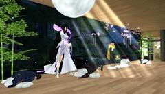 Away She Disappears (BlueLotusOkiya) Tags: secondlife geisha hime kaguya miyakoodori kaguyahime bluelotusokiya