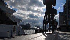 Royal Victoria Dock, London (neil mp) Tags: blue sky cloud london hotel boat ship quay cranes dome cablecar royalvictoriadock o2centre millenniumdome sunborn emiratesairline westerngateway icclondon greeenenterprisedistrict