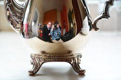 087 2015 time for tea (Margaret Stranks) Tags: reflection pot 2015 365days silverplate 087365