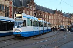 GVB Blokkendoos tram 813, Lijn 4, Centraal Station (Don Maskerade) Tags: station amsterdam central tram centraalstation streetcar tramway gvb 813 blokkendoos blokkendozen
