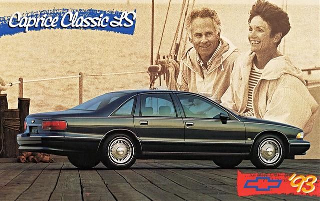 classic chevrolet sedan postcard 1993 ls caprice