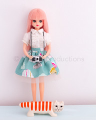 2 cameras (nkawai) Tags: camera cloud japan by digital cat toy japanese doll shaped barbie like skirt rement takara productions licca tomy regaliz liccachan nkawai necono