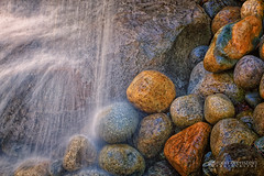 Zen Waterfall (ROPhoto77) Tags: water gardens canon botanical movement rocks maine peaceful zen hypnotic ef100mmf28lmacroisusm