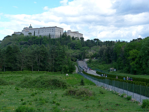 Monte Cassino - the Polish cemetery, view to the abbey