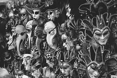 Maschere veneziane (LevanteCH) Tags: biancoenero blackwhite candid streetphoto goingcandid relax citylife adorable people tamron16300 candidportraits venice venezia italia piazzasanmarco rialto canalgrande sanmarco veneto europa europe europeantravel travel