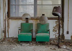 Salon Chairs (FWDPhotography) Tags: abandoned decay derelict urbex urbanexploration urbandecay explore nikon d5100 photo photographer photography hospital tuberculosis hair newyork sanatorium